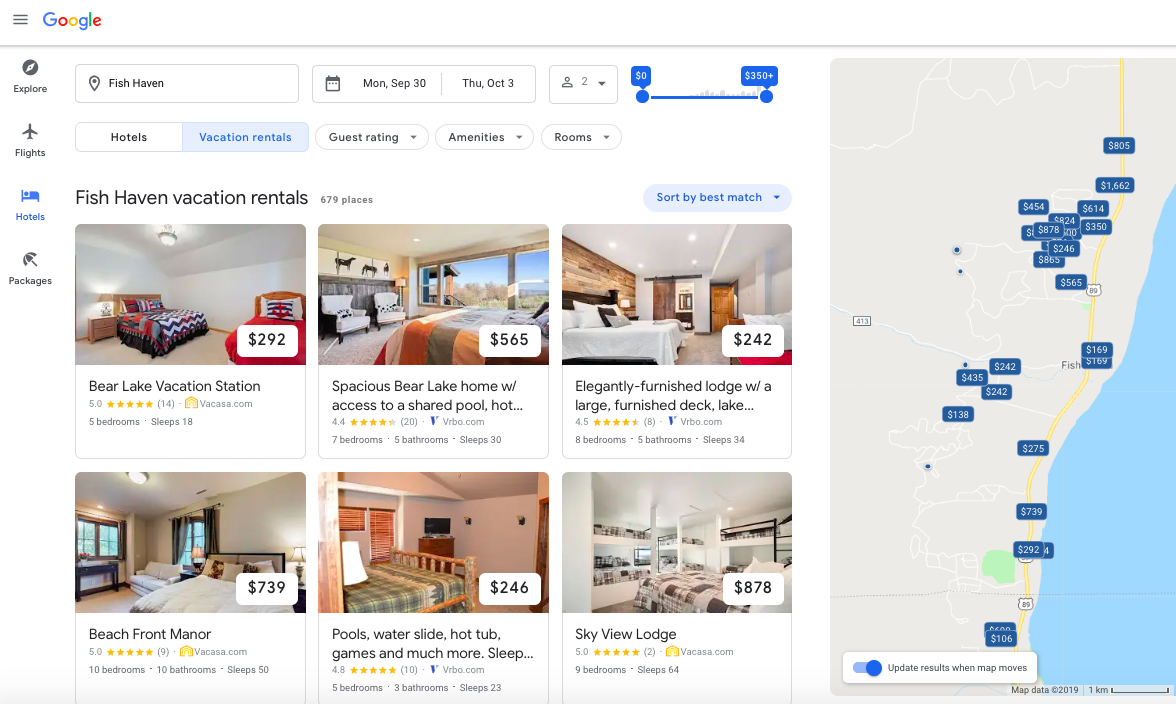Vacasa completes direct API integration with Google for listings